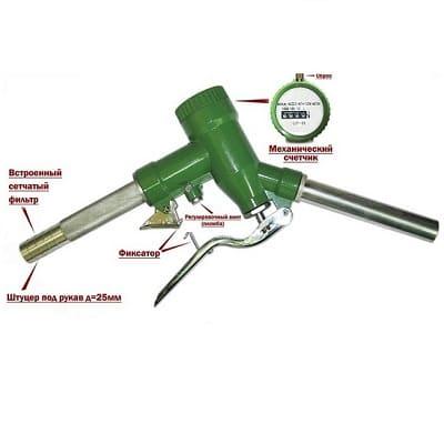 Petroll LLY-25 счетчик механический учета топлива с раздаточным краном